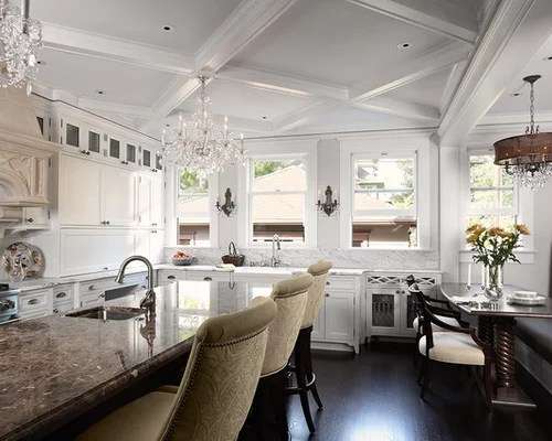 Chandelier On Coffered Ceiling Ideas, Pictures, Remodel And Decor