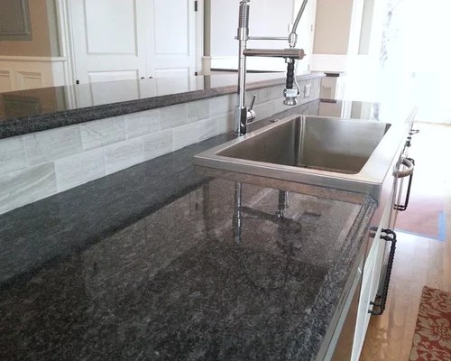 White Kitchen Cabinets And Green Backsplash Steel Grey Granite Ideas, Pictures, Remodel And Decor