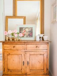 Shabby-Chic Style Orange Living Room Ideas & Photos