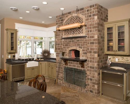 Indoor wood fired pizza oven home design ideas pictures remodel and
