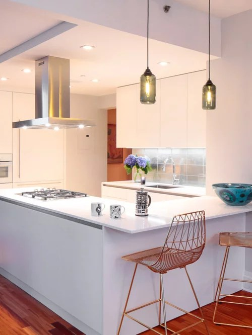 mid sized contemporary shaped eat kitchen small contemporary shaped eat kitchen idea moscow flat
