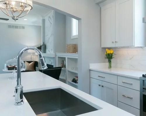 kitchen design ideas remodel pictures stone tile backsplash inspiration small transitional single wall eat kitchen