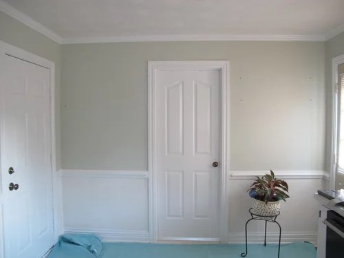 Repainting Walls Below Newly White Chair Rail Best Color