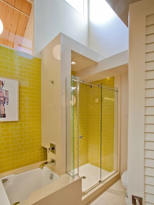 Yellow Tile Bathroom Houzz