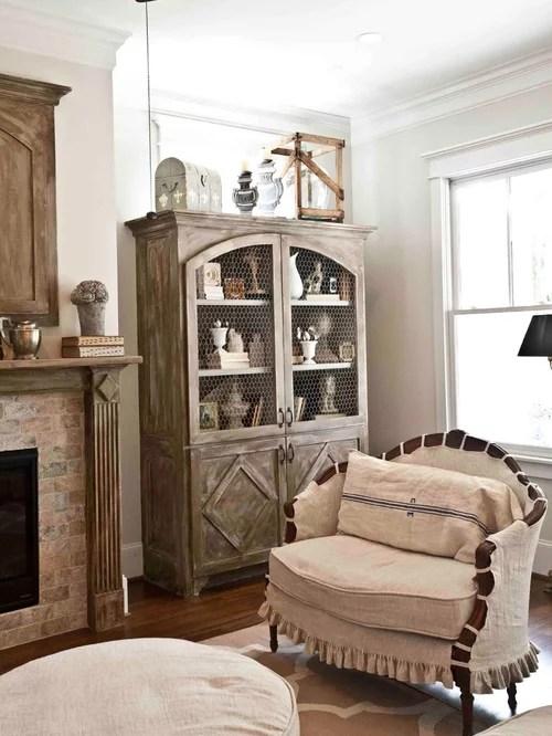 Chicken Wire Hutch Houzz - living room hutch