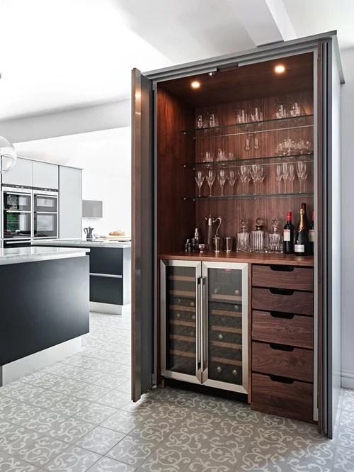 Hausbar mit Keramikboden einrichten - Ideen, Design \ Bilder - designer schranke holz keramik
