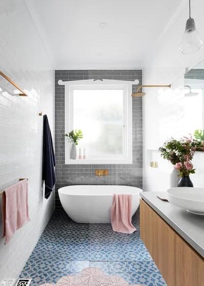 So beruhigend! Ein 6,8 qm kleines, langes Bad in sanften Farben - badezimmer 8 qm