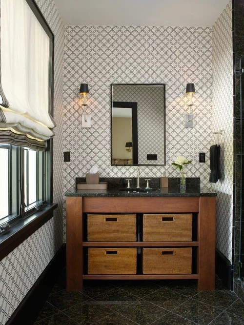 Contemporary Wall Sconces Men's Bathroom | Houzz