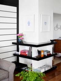 Shelves Around Column | Houzz