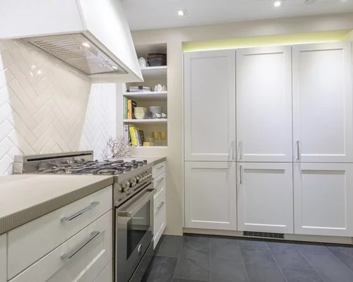 kitchen design ideas renovations photos slate floors leatherette brushed stainless steel modern armchairs accent chairs
