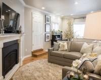 Gray & Seafoam Modern Living Room