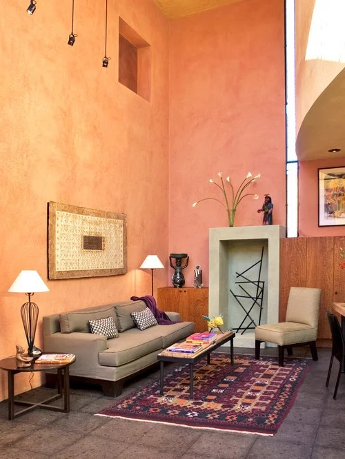 Peach Paint Color Houzz - peach living room