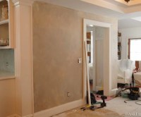 Painted wainscoting/chair rail