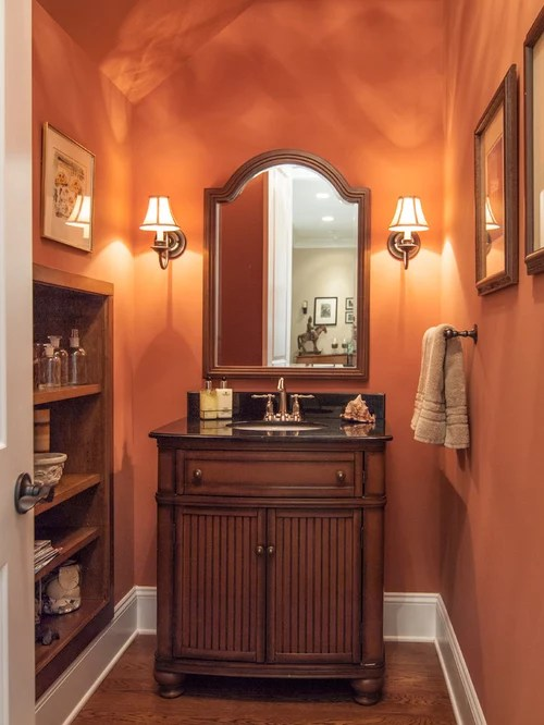 Undermount Bathroom Sink Traditional Powder Room Design Ideas, Remodels & Photos