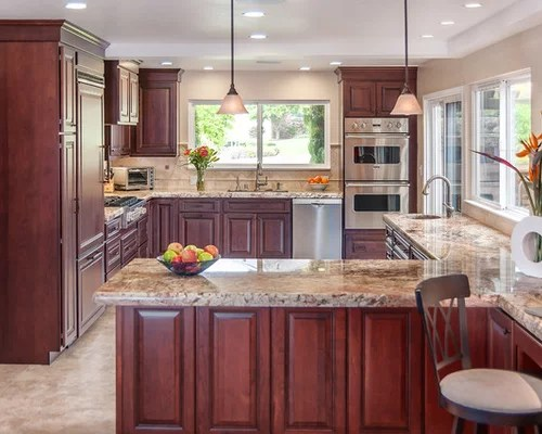 Pictures Of Refaced Kitchen Cabinets Cherry Cabinets Kitchen Ideas, Pictures, Remodel And Decor
