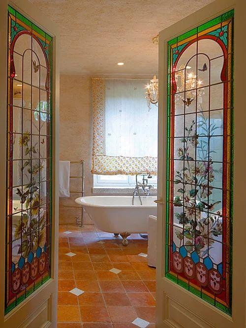 Stained glass door houzz