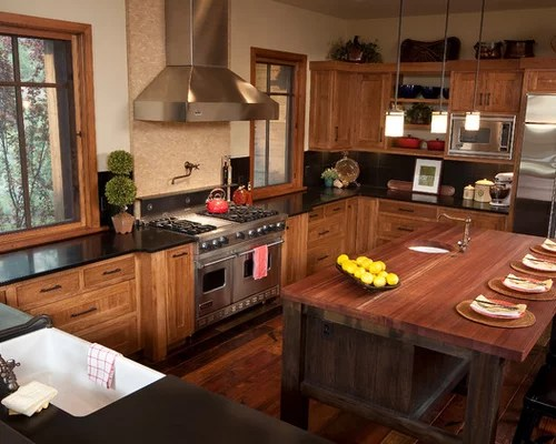Painted Vs Stained Kitchen Cabinets Hickory Cabinets | Houzz