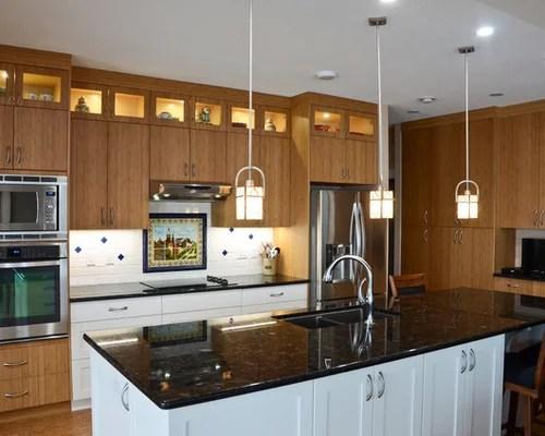transitional kitchen design ideas renovations photos granite inspiration small transitional single wall eat kitchen