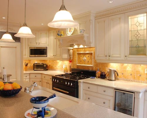mid sized mediterranean galley eat kitchen toronto double design ideas design style dining room fireplace furniture garden