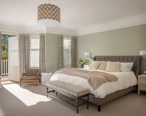 Best Beige Walls Olive Green Curtains Design Ideas & Remodel
