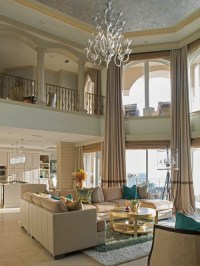 Two Story Window Treatments | Houzz
