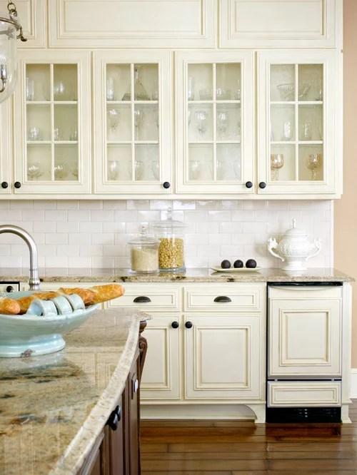 antique white cabinets home design ideas pictures remodel decor white kitchen cabinet glass metal backsplash tile backsplash