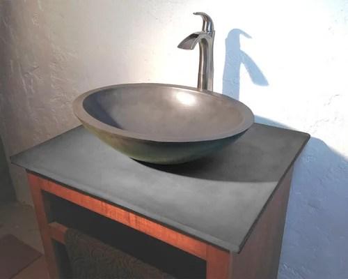 Concrete Vessel Sink Home Design Ideas Pictures Remodel