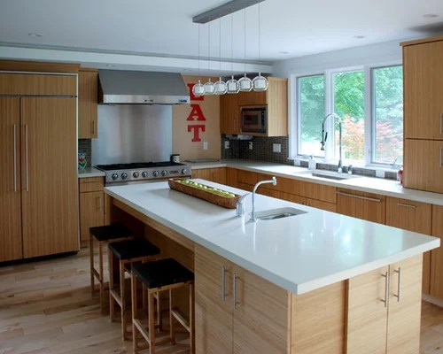 Kitchen Island Distance From Cabinets Best White Countertops Design Ideas & Remodel Pictures | Houzz