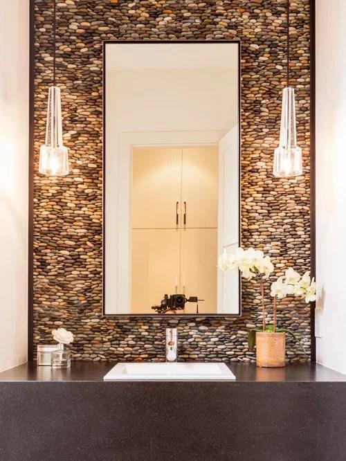 3d Stone Wallpaper Reviews River Rock Wall Houzz