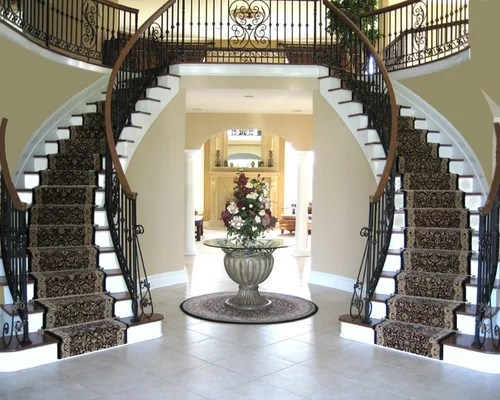 Double Staircase Home Design Ideas Pictures Remodel And