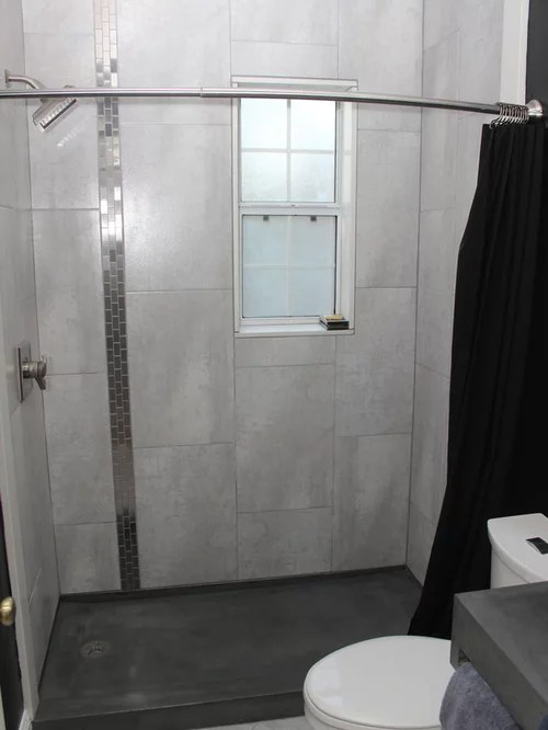 Temporary Patio Precast Concrete Shower Pan | Houzz