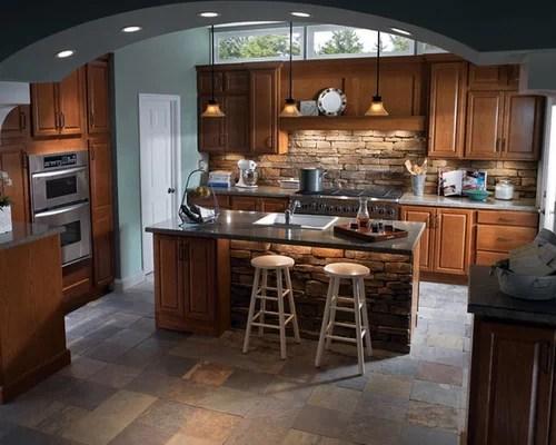 kitchen design photos stone tile backsplash slate floors kitchen cabinets recycled kitchen design ideas