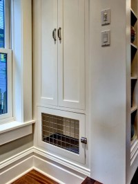 Built In Dog Crate Design Ideas & Remodel Pictures | Houzz