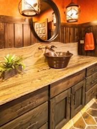 Rustic Ranch Guest Bathroom