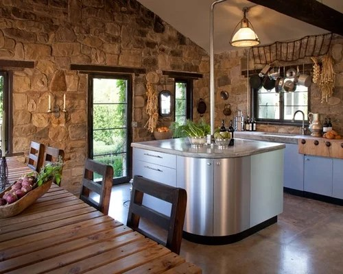 small single wall kitchen design photos concrete countertops transitional eat kitchen multiple islands design ideas