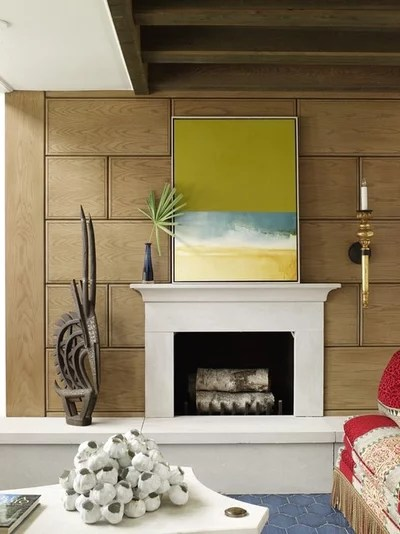 10 Broad-Stroke Ideas for Choosing and Displaying Art - artwork for living room