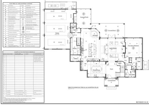 lighting and electrical plan review