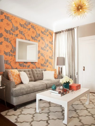 Living Room Wallpaper Border Ideas Ideas, Pictures, Remodel and Decor