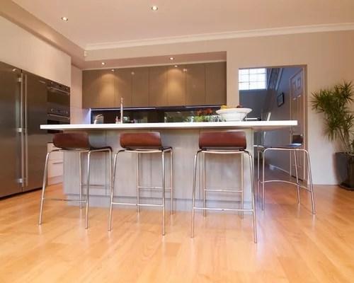 orange eat kitchen design ideas renovations photos white inspiration small transitional single wall eat kitchen