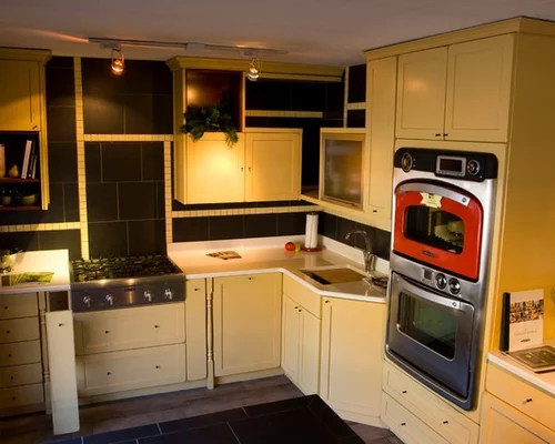 small eclectic kitchen design ideas renovations photos small shaped eat kitchen design photos flat panel