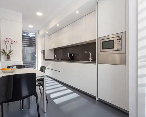 single wall kitchen design ideas renovations photos linoleum inspiration small transitional single wall eat kitchen