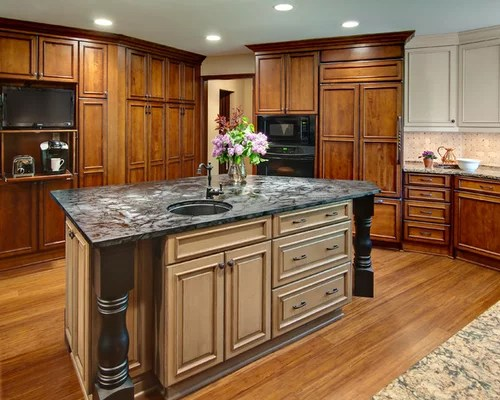 fire station door kitchen design ideas renovations photos inspiration small transitional shaped kitchen remodel