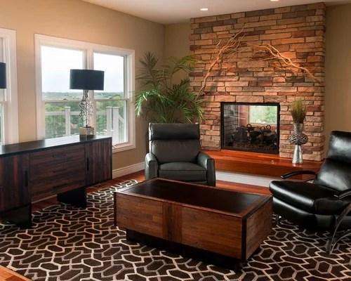 Modern Rustic Furniture Houzz - houzz living room furniture