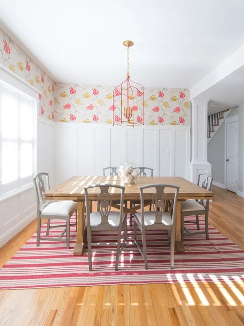 Gym 3d Wallpaper Wainscoting With Wallpaper Above Houzz