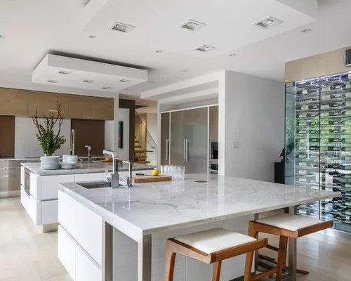 kitchen design photos stainless steel cabinets quartzite inspiration small transitional single wall eat kitchen