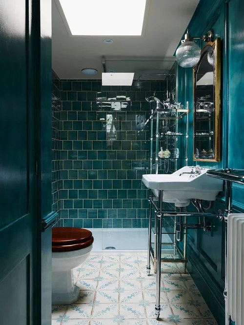 Bathroom Design Ideas Renovations Photos With Blue Walls