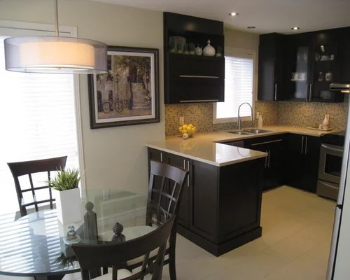 small kitchen peninsula home design ideas pictures remodel decor small eat kitchen transitional home design photos
