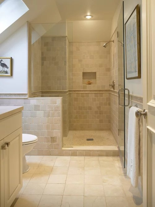 Houzz Showers Travertine Shower | Houzz