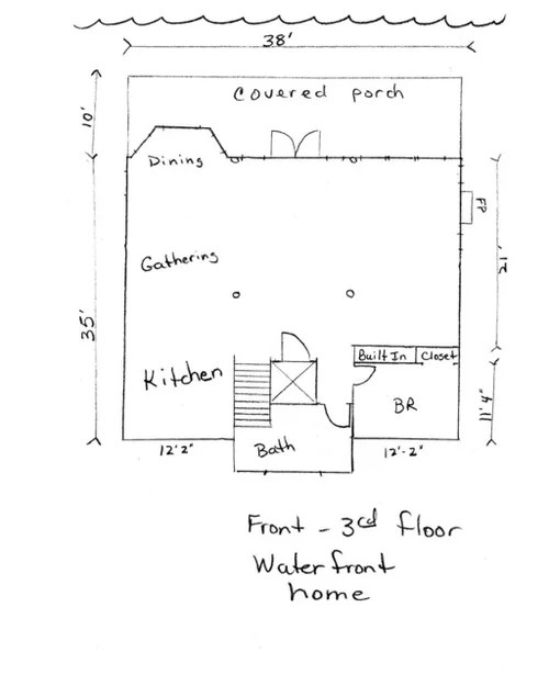 Help with our 3rd floor layout-where to put stairs to the cupola?