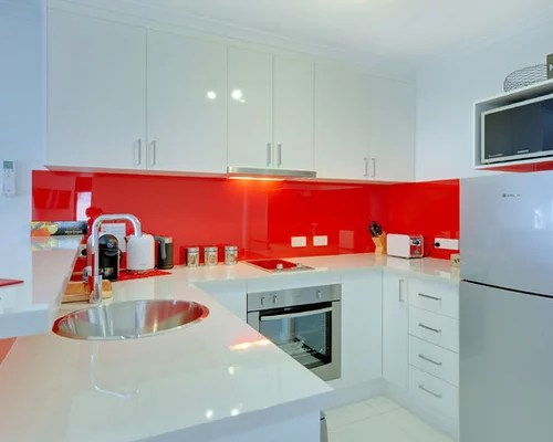 small shaped eat kitchen design ideas remodels photos red type kitchen dining